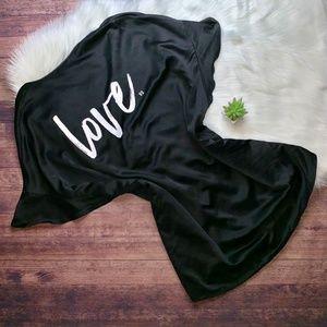 NEW Victoria's Secret VS Black Satin Love Robe